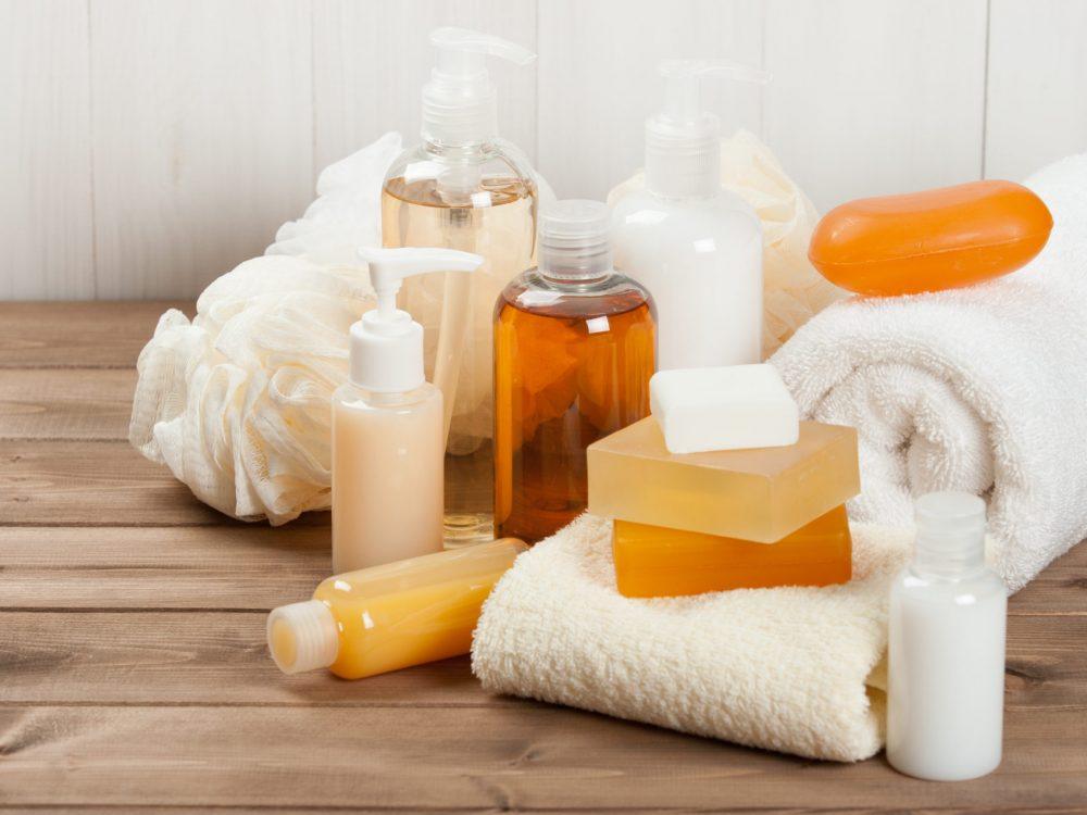 Soap Bar And Liquid. Shampoo, Shower Gel. Towels. Spa Kit